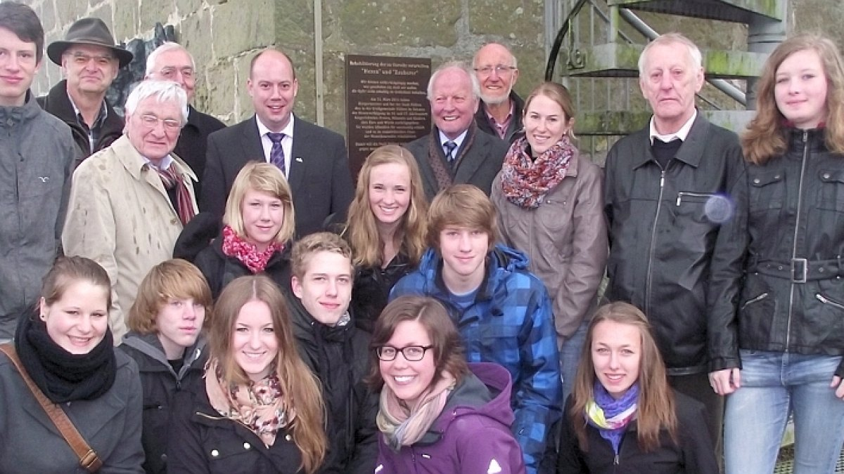 Klasse 8a mit Vertretern der Stadt Rüthen