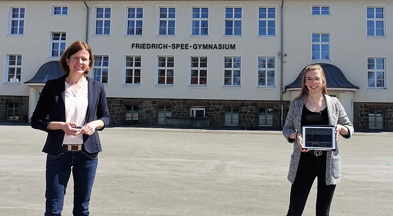 Dr. Barbara Kühle und Anna Franke